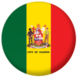 Darwin Flag 25mm Button Badge